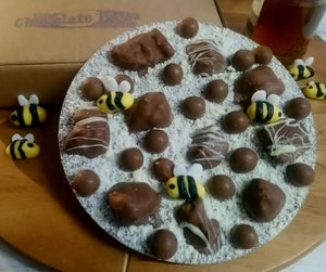 Honey Bee Chocolate Pizza
