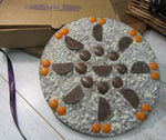 Orange Chocolate Pizza made by The Chocolate Pizza Company