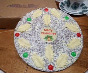 Merry Christmas Chocolate Pizza