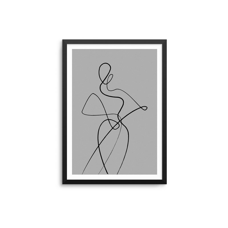Abstract Woman II - Grey