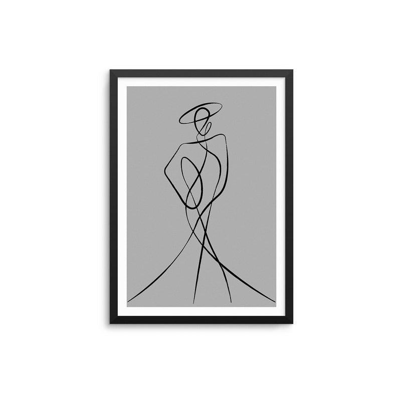Abstract Woman III - Grey
