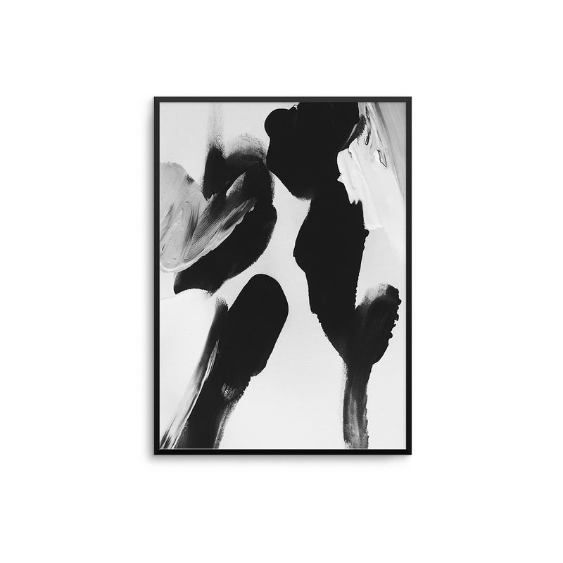 Black and White Abstract Paint I