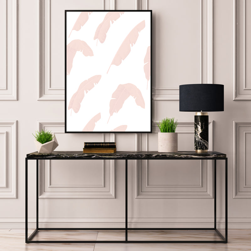 Blush Banana Palm Leaves