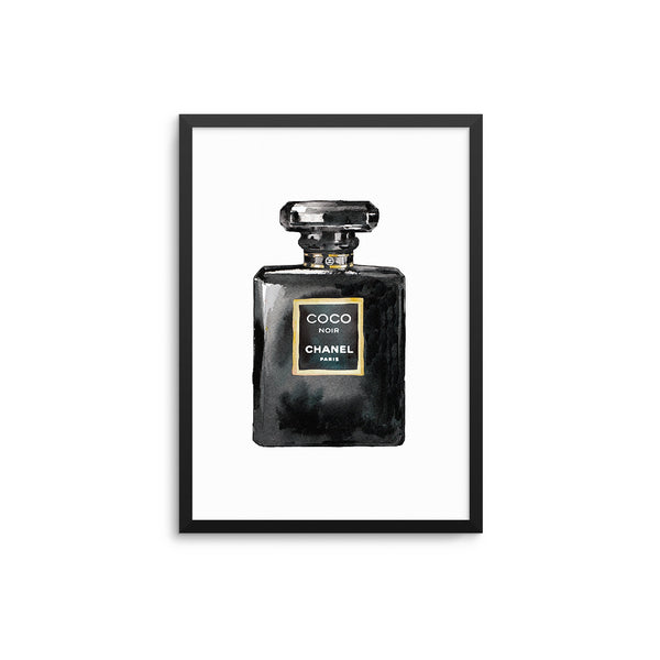 CoCo Noir Perfume Illustration Print
