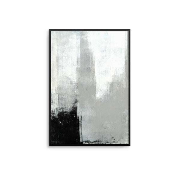 Grey & Black Canvas Abstract