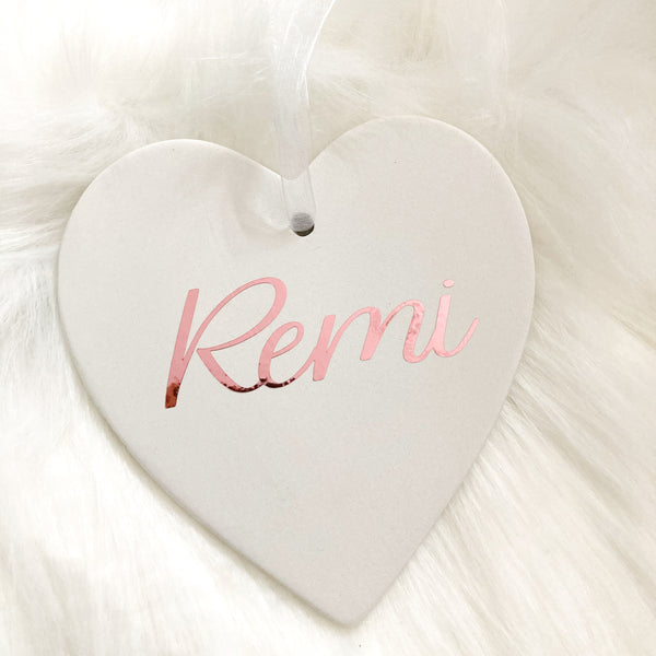 Personalised Christmas Bauble - Heart