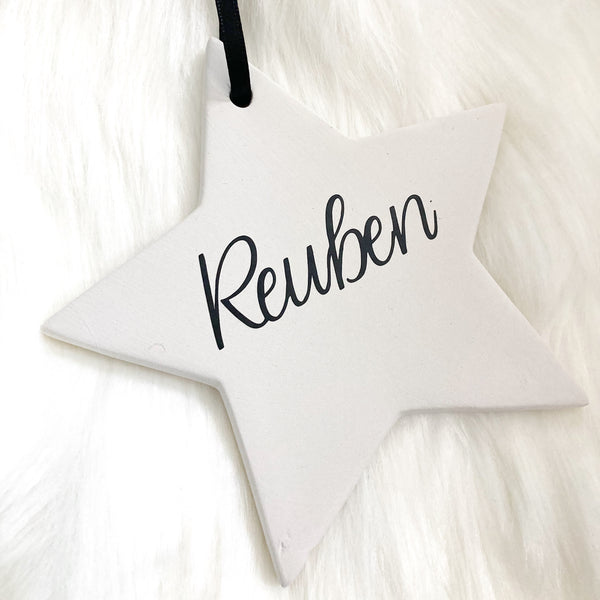 Personalised Christmas Bauble - Star