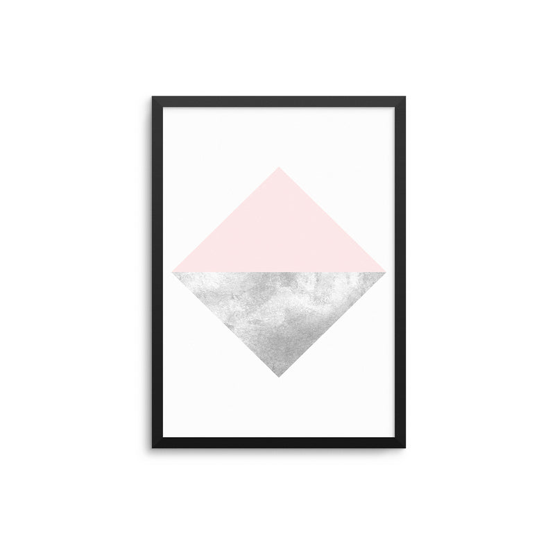 Pink & Grey Geometric Diamond