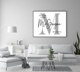 The family Surname household Personalised Print