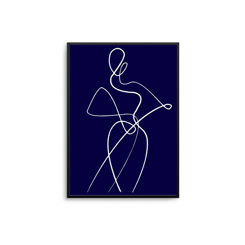 Abstract Woman II - Navy Blue