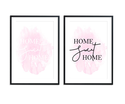 Home Sweet Home II Pink