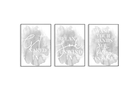 Get Naked | Relax | Wash Your Hands Trio Set