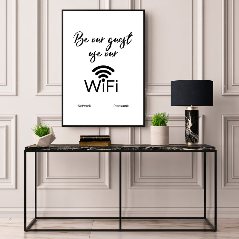 Be Our Guest Personalised Wifi Sharing