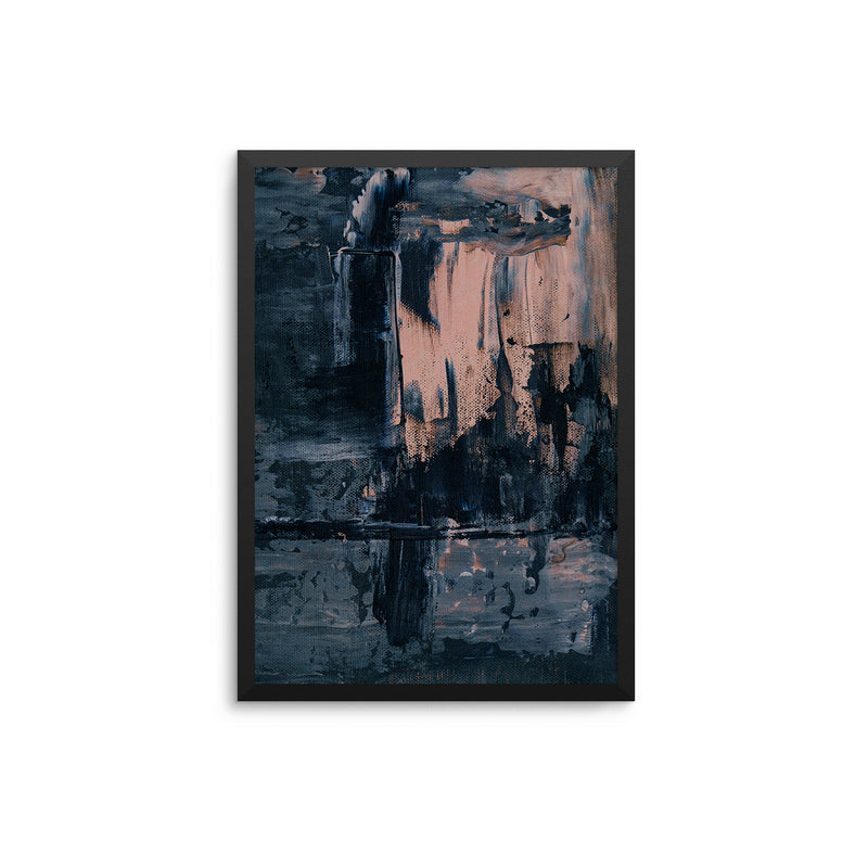 Black Grey Blush Abstract