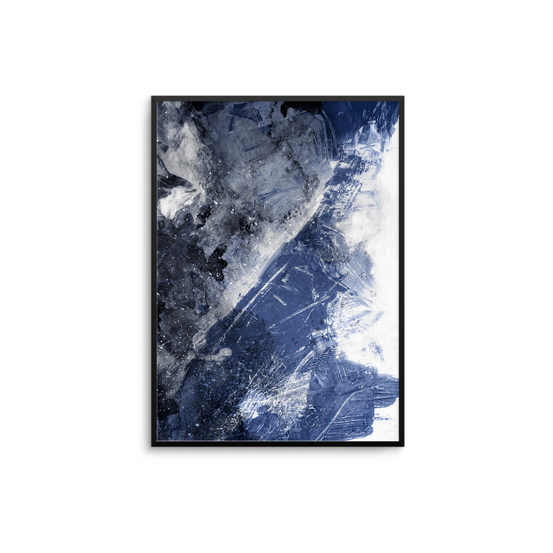 Navy & White Abstract Canvas
