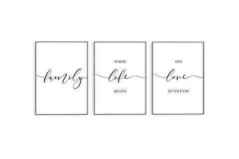 Family Life Love Trio Set