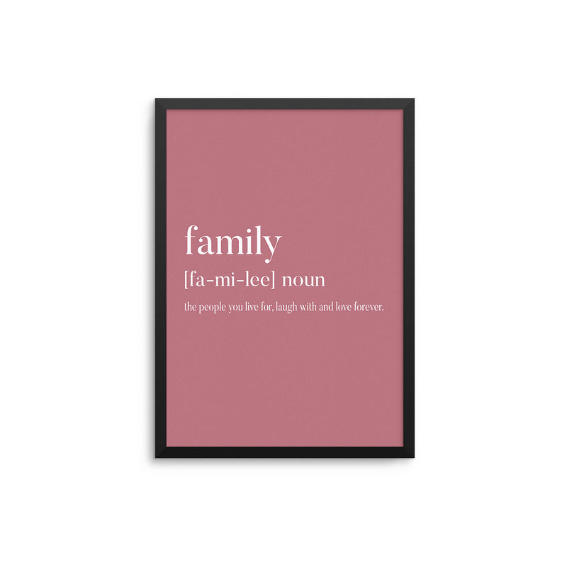 Family Noun Rose Pink