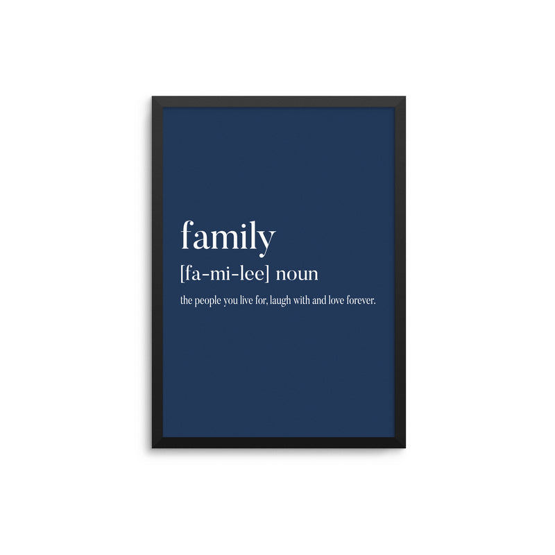 Family Noun Navy Blue