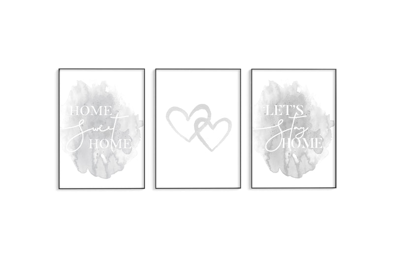 Grey Home | Hearts | Home Trio Set
