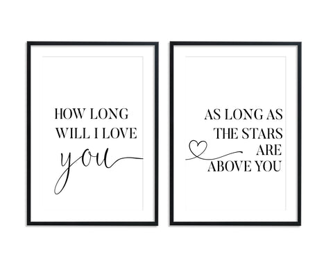 How Long Will I Love You Set