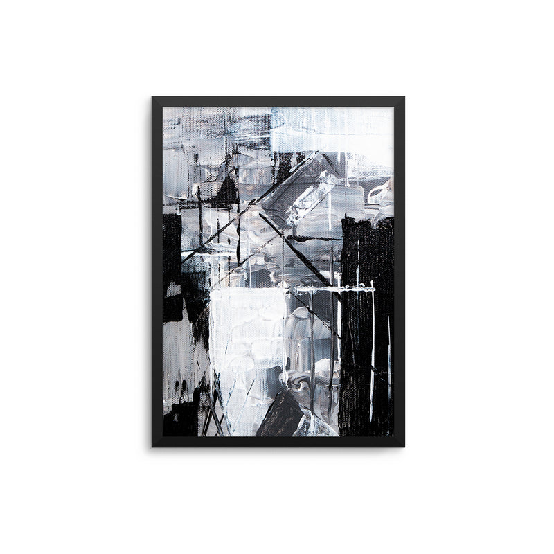 Monochrome Abstract Painting