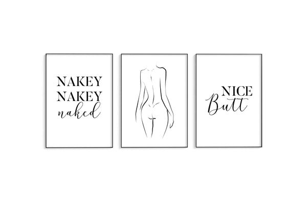 Nakey Nakey | Naked | Nice Butt Trio Set