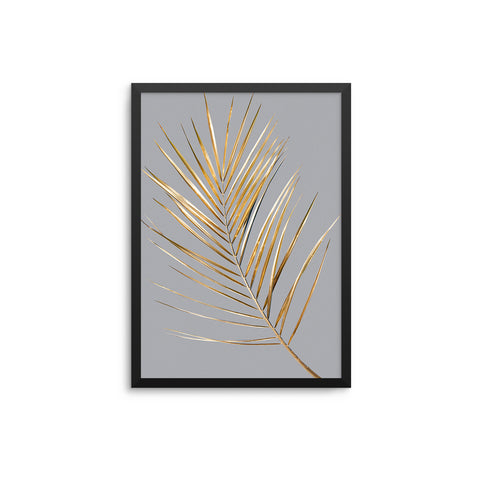 Palm Leaves Gold Grey