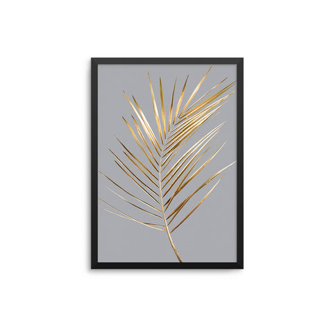 Palm Leaves Gold Grey II