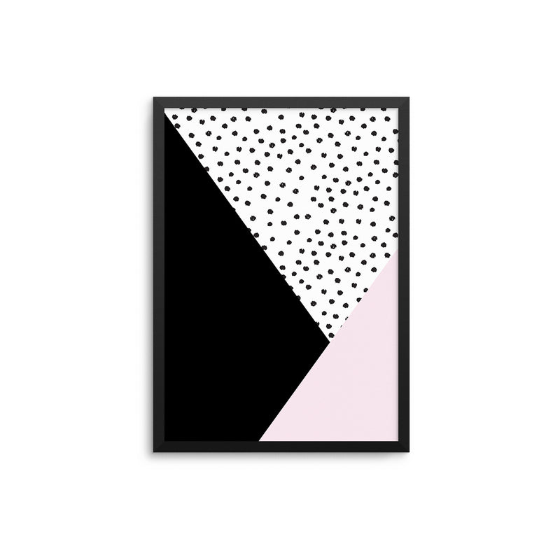 Pink Black & Dots II