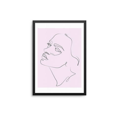 Face Outline Pink