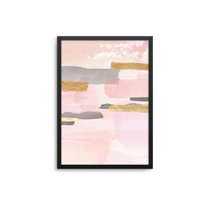 Pink Grey Gold Collage