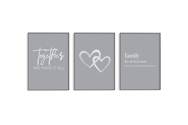 Together | Hearts | Family Trio Set