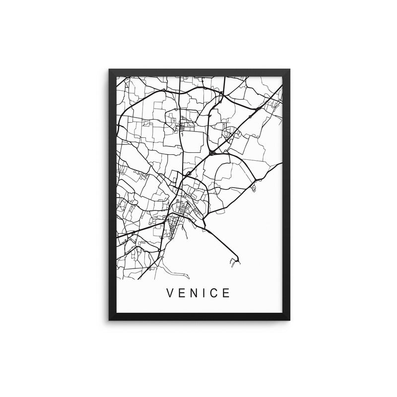 Venice Outline Map