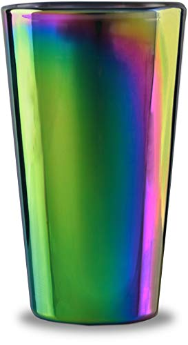 Circleware Rainbow Fusion Set of 4-16.9 oz Heavy Base Highball Drinking Glasses, 4-pc