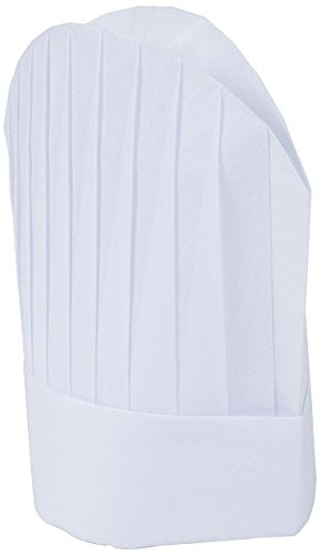 Mercer Culinary Non-Woven Oval Chef Toque, 8 1/2 Inch, White, 10 Pack