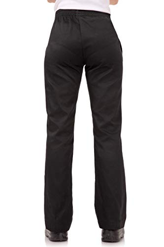 Chef Works Women's Essential Baggy Chef Pants, Black, Large