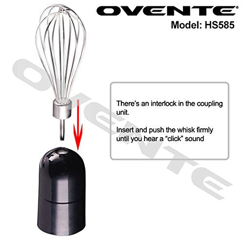 Ovente Multi-Purpose Immersion Hand Blender Set- black
