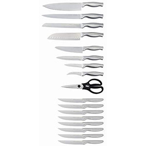 Emeril Lagasse Stainless Steel Hollow Handle 18-Piece Knife Block Set (Natural)