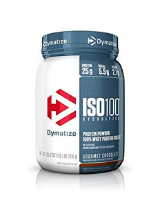 Dymatize ISO 100 Whey Protein Powder Isolate, Gourmet Chocolate, 1.6 lbs