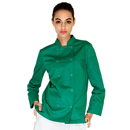 Cheflife colored chef uniforms long sleeve coat for women green