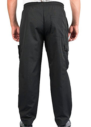 Black Cargo Style Chef Pant, 2XL