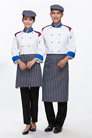 Catering Uniforms Chefs Jackets Long Sleeves Size S Blue