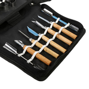 46PCS Kitchen Carving Chisel Chef Tools Portable Fruit Vegetable Food Peeling Set Kit Carving Knife For Kitchen Cutting Tools