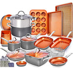 23pc Copper Cookware Set Copper Pan Set