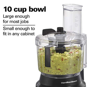 Hamilton Beach 10-Cup Food Processor & Vegetable Chopper with Bowl Scraper, Stainless Steel