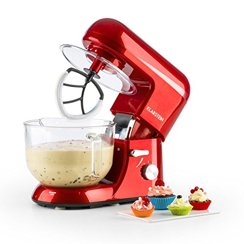 Bella Rossa Tilt-Head Electric Stand Mixer, Red