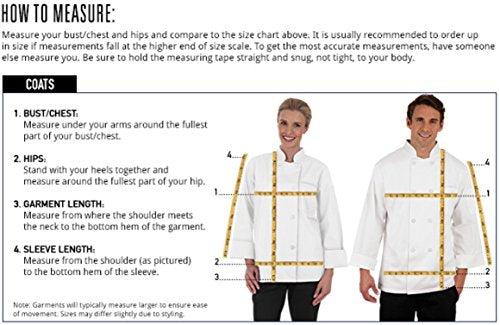 Women's Short Sleeve Chef Coat/Double Breasted/Plastic Button Reversible Front Closure (S-2X, 2 Colors) (Large, White)