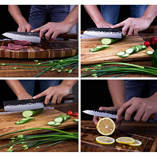 Findking-Dynasty series-3 layer Clad steel w/octagon handle knife set (4-Piece)
