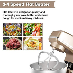 Stand Mixer, Sincalong 8.5QT 6 Speed Control Electric Stand Mixer with Stainless Steel Mixing Bowl and 3 Attachments, Food Mixer for Mix, Blend, Whip and Knead