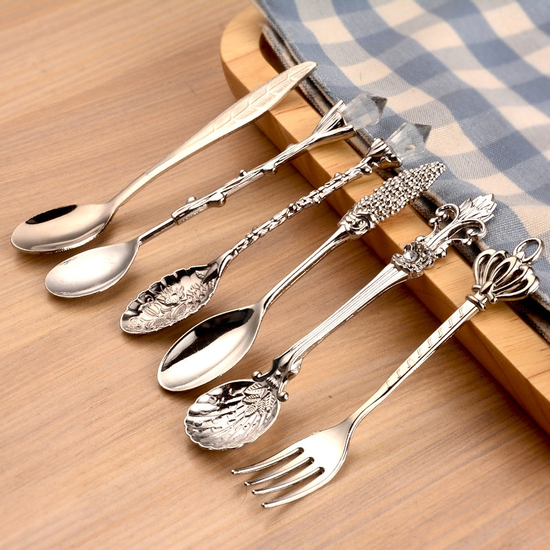 6Pcs/Set Mini Vintage Kitchen Spoons/Fork